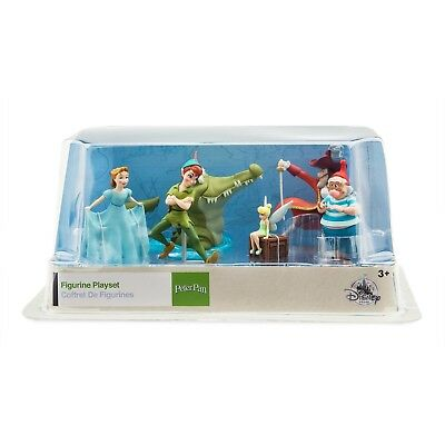 DISNEY Store FIGURE Playset PETER PAN Figurine 6 Piece PLAY SET Cake Topper NEW