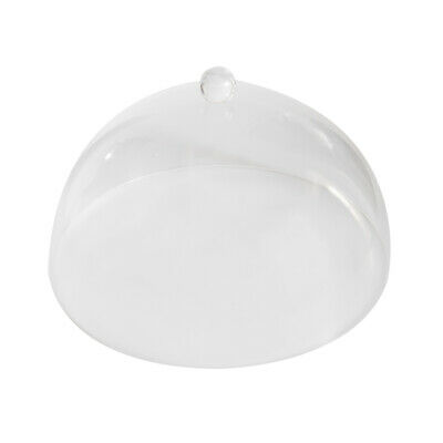 Cake Cover with Moulded Handle Acrylic Dome Shape 300mm Diameter Cupcakes