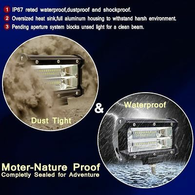 72W Spot LED Light Work Bar Lamps Driving Fog Offroad SUV 4WD Car Boat Truck Cre