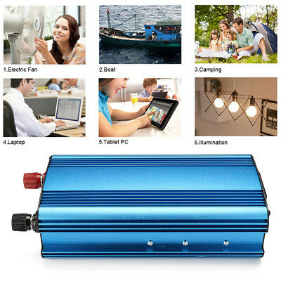 NEW 4000W Car Solar Power Inverter DC 24V to AC 220V 4 USB Interface Converter