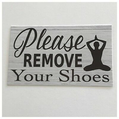 Please Remove Your Shoes Yoga Meditation Spiritual Sign Wall Plaque or Hanging