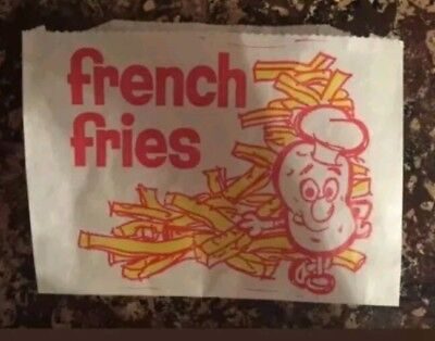 (50) French Fry Fries Disposable Bags medium Paper Wrapper Warm Parties