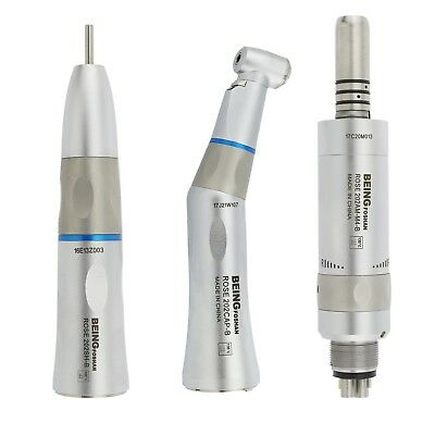 BEING Dental LED Low Speed Handpiece Kit 6H Air Motor Contra Angle Kavo Rose 202