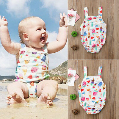 US Stock Newborn Baby Girls Boy Romper Jumpsuit Jumper Outfits Summer Costume