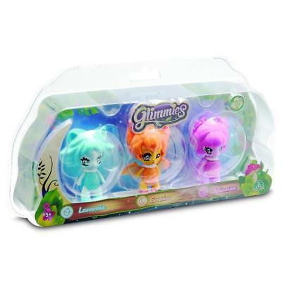 Glimmies 3 Light Up Figure Pack Collectible Childs/Kids Assorted Playset