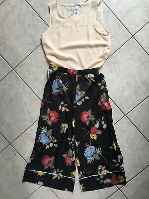Lotto Stock Outfit Completo Pantalone Cropped Imperial + Top Intimissimi Tg S