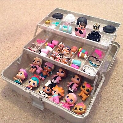 Lol Surprise Doll   Carry Case Storage Box   Ideal For LOL Dolls U0026 Crafts  SILVER