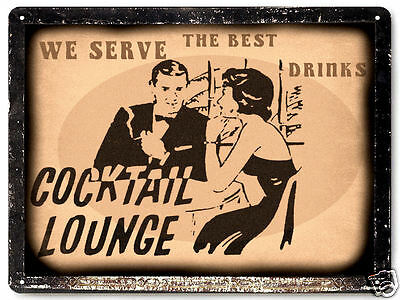 BAR TAVERN METAL sign WHISKEY LIQUOR vintage style cocktail lounge decor 240