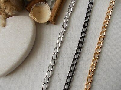 Jewellery Chain,Chunky Metal Curb Chain, Silver,Gold,Black,Art/Craft,Large Links