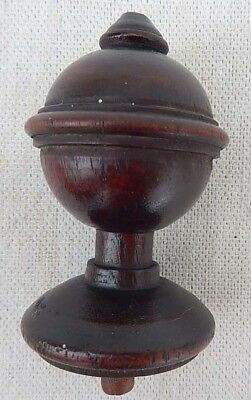 "Extra Nice Antique 19th Century Small 2 5/8"" Tall Wooden Furniture Finial"