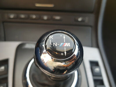 BMW E46 M3 SMG Emblem Shift Knob Gearknob Gear Stick Sticker - FL