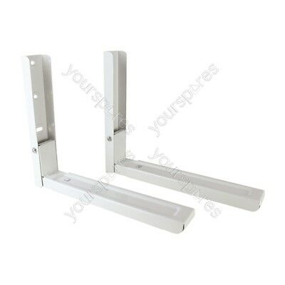 White Microwave brackets with Extendable Arms - Large