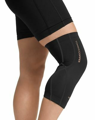 Tommie Copper Women's Performance Compression Knee Sleeve Black Heavy Weight
