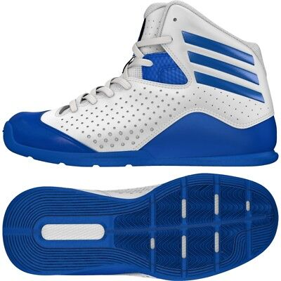 super popular 7f786 31eb7 Adidas Boys Nxt Lvl Spd 4 K Basketball Shoes Trainers White blue Uk 11-