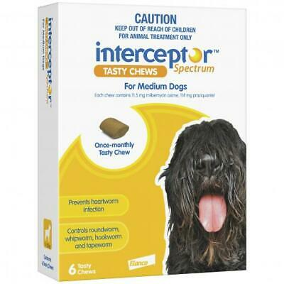 Interceptor Spectrum - Tasty Chew - Worming Treatment for Medium Dogs