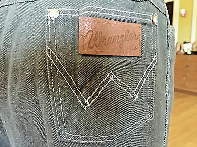 Vintage 1950s Grey Western Cowgirl Cowboy White Topstitching Wranglers Jeans