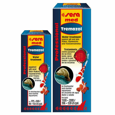 Sera Med Professional Tremazol Flukes Tapeworm Fish Disease Treatment 25ml / 100