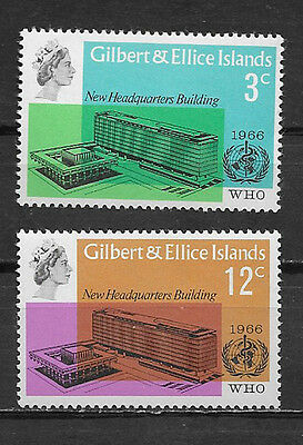 Gilbert & Ellice Islands ,un , 1966 , Who Headquarters Issue , Set Of 2 , Mnh