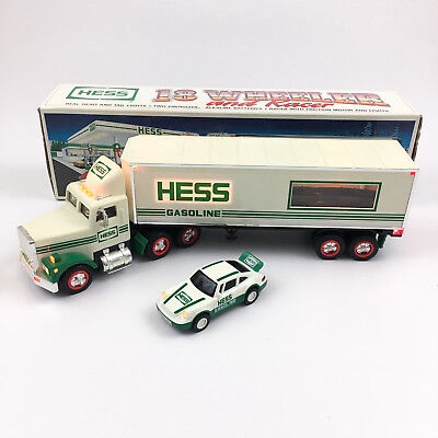 Hess 1992 Toy 18 Wheeler with Porsche Racers Head, Tail & Interior Lights