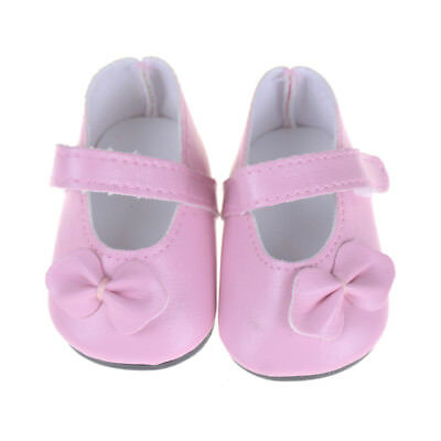"""Pink Shoes with Bow Clothes Accessory for 18""""  Girl Doll Journey DollsGT"""