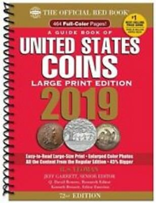 2019 Red Book Of US Coins- LARGE PRINT - 72nd Edition, REDBOOK