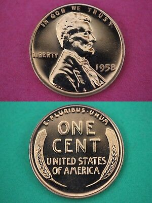 1958 P Proof Abraham Lincoln Wheat Cent Penny Mirror Finish Flat Rate Shipping