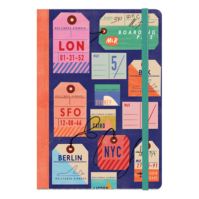 Punch Studio Molly & Rex E8 Travel Soft Cover Bungee Journal Luggage Tags 38547