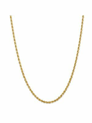 14k Yellow Gold 3.5mm Wide Solid,Diamond-Cut Rope Chain Anklet Ankle Bracelet