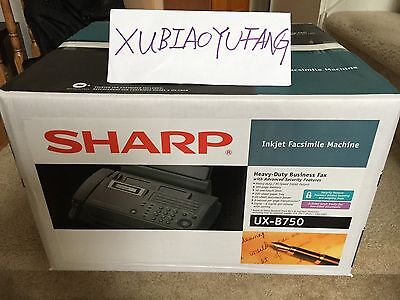 Sharp - UX-B750 Inkjet Fax Machine w/Built-in Phone Handset, NEW & SEALED IN BOX