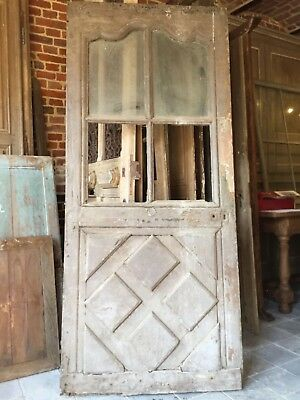 Beautiful French antique door, oak, original paint
