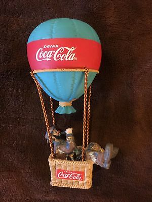 "Coca-Cola  ""LOOK UP AMERICA"" EMMITT KELLY HOT AIR BALLOON FIGURINE 1994"