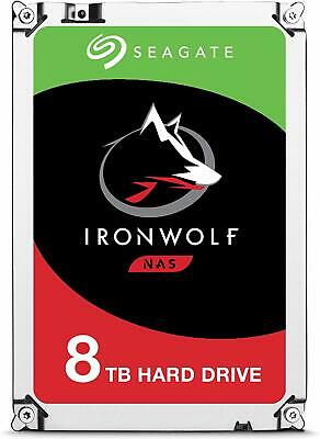 Seagate 8TB Ironwolf SATA NCQ 3.5-Inch Internal Hard Drive (ST8000VN0022) New