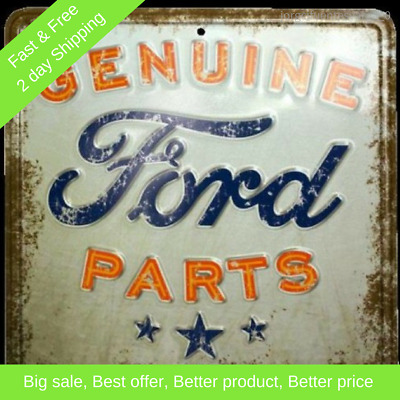 Vintage Metal Sign, Retro Style Genuine Ford Parts Nostalgia, Wall Decor