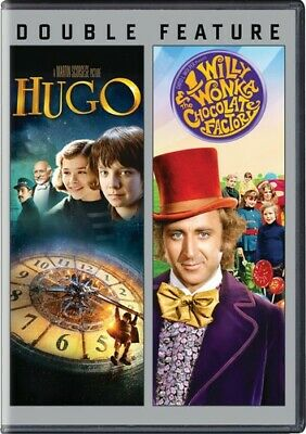 Hugo / Willy Wonka & the Chocolate Factory [New DVD] 2 Pack