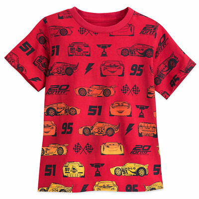DISNEY Store TEE for Boys CARS 3 Red T Shirt PICK Size NWT