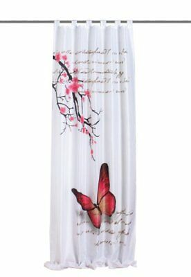 "Home fashion 48516-831 - Tenda con passanti ""Butterfly"" con stampa digitale, tes"