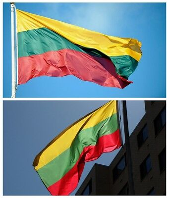 Hanging Lithuania flag ba Lithuanian Flags 3x5FT/90*150cm Festival Decor Outdoor