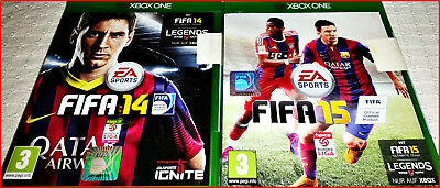 Xbox One 2 Games: Fifa 15 + Fifa 14 Football New / Ovp Beide- Legends Edition