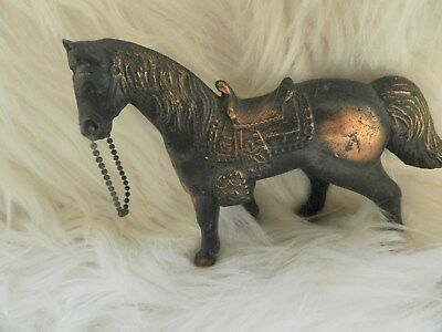 Vintage Metal Copper Brass Horse Statue Figurine Beautifully Detailed