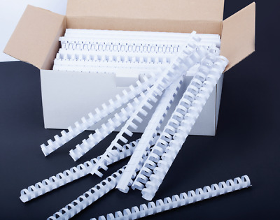 Plastic Binding Combs White A4 21 Ring Loop