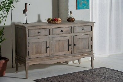 Bordeaux 3 Door Sideboard Solid Shabby Chic in Mango Free Del!!