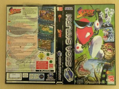 Sega Saturn Game Case * SPOT GOES TO HOLLYWOOD * Case ONLY Retro Rare 23326
