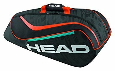 (TG. Taglia unica) Black/Orange Head Kids 'Combo per racchette da tennis, nero/a