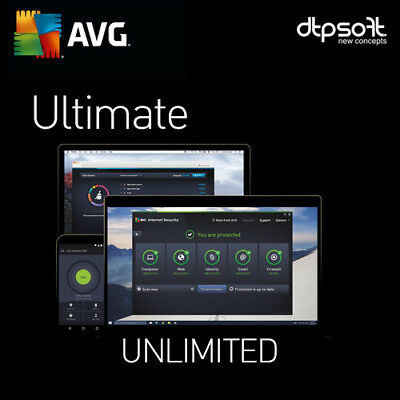 AVG Ultimate 2019 2 YEARS Unlimited Devices - Antivirus | Mac +Android | 2018 UK