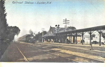 Exeter NH Train Station Railroad Depot Postcard