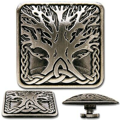 Celtic Tree of Life No. 3 Screwback Concho, Decorative Screw Back Rivet
