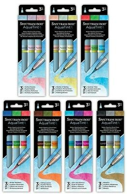 Spectrum Noir AQUATINT 3 Pen Packs By Crafters Companion NEW 2018 Range!