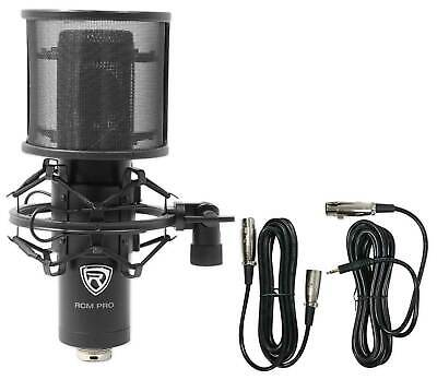 Rockville RCM PRO Studio/Recording Podcast Podcasting Condenser Microphone Mic