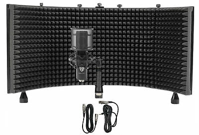 Rockville RCM PRO Studio/Recording Podcast Condenser Microphone + Foam Shield