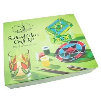 Stained Glass Craft Kit  Glass Paint Set Painting Kit Amazing Gift Present